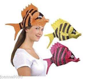 Adult novelty fun tropical fish sea animal plush fancy for Fish costume for adults