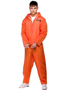 Mens-Orange-Convict-Boiler-Suit-Chain-Gang-Prisoner-Jumpsuit-Fancy-Dress-Costume