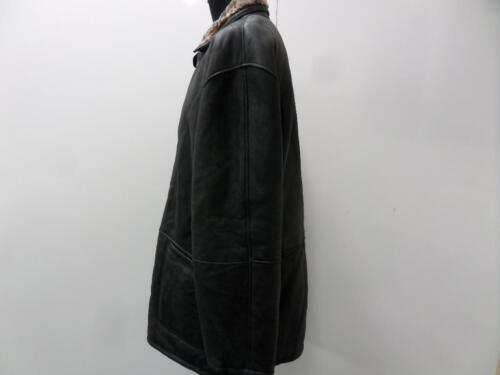 Leather Company En E Company Cuir Manteau 46 Noir Mens Shearling 46 De Black Shearling b Coat qxavwfP