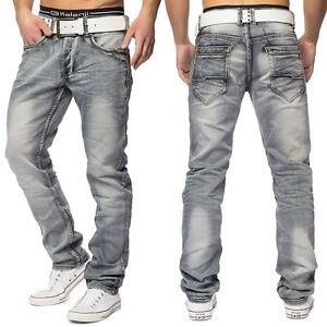 Jeans-Vintage-homme-afflige-jeans-lavis-gris-Stretch-Fit-Regular