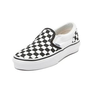 New Vans Slip-On Chex Skate Shoe Black Chex Slipon Checkers YOUTH ... 4d5d134db