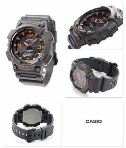 5e78074d804b AQ-S810W-8A Black Orange Casio Men s Watch Tough Solar Analog ...
