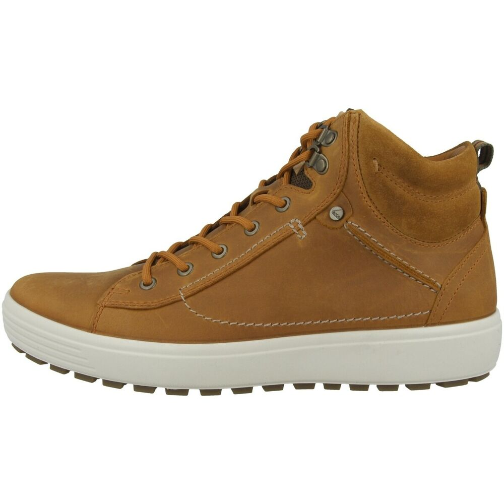 Ecco Soft 7 Tred M Chaussures Men Messieurs Boots High Top Sneaker Amber 450334-51669