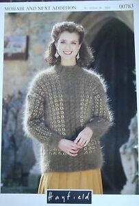 Original-Hayfield-Knitting-Pattern-00783-Ladies-Mohair-Sweater-30-034-44-034-large-size