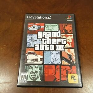 GRAND THEFT AUTO III PS2 PLAYSTATION 2 COMPLETE(W/MAP) GAME FAST SHIPPING