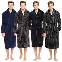 Marks & Spencer Men's Pure Cotton Luxury Velour Dressing Gown Bath Robe Ms25