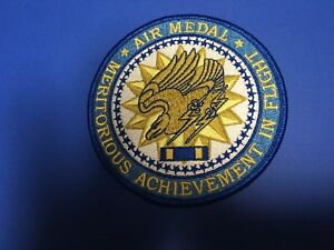 AIR-MEDAL-4-INCHES-DIAMETER-PATCH-034-MERITORIOUS-ACHIEVEMENT-IN-FLIGHT-AWARD-034