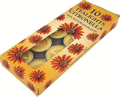 Collezione Qui Alla Citronella Tea Lights-insetto Repellente Candele Confezione Da 10 Campeggio All'aperto- Vendita Calda Di Prodotti