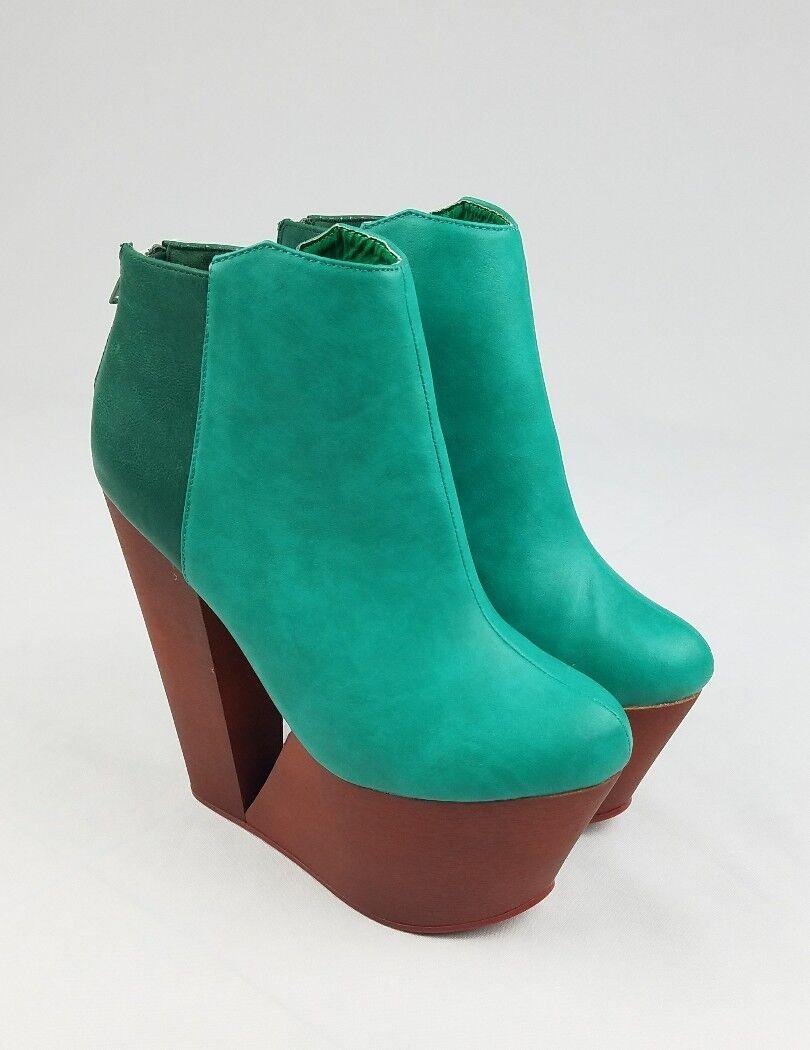 Privilegiert Schuhe Damen 6 Deena Deena Deena Plateau Grün d71c1b