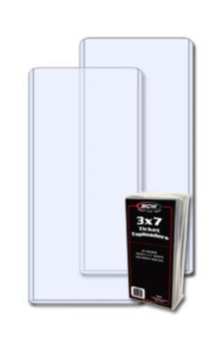 10 BCW 3 x 7 Hard Plastic TICKET TOPLOAD Holders 3x7 rigid toploaders protectors