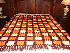 New Handmade Handcrafted Crochet Afghan Throw Blanket ~ Granny Square Pattern