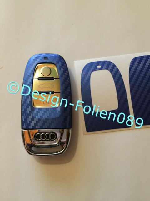 Carbon Blau Folie Dekor Schlüßl Audi 8K A3 4G RSQ7 8PA4 S4 A5 8T A6 4F A8 Q5