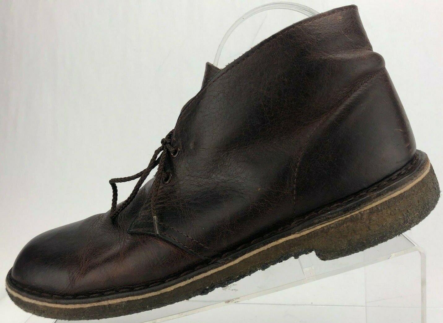 Clarks Originals Ankle stivali Marrone Crepe Sole Lace Up Up Up Desert Chukka Uomo 9.5 M 0ee4c7