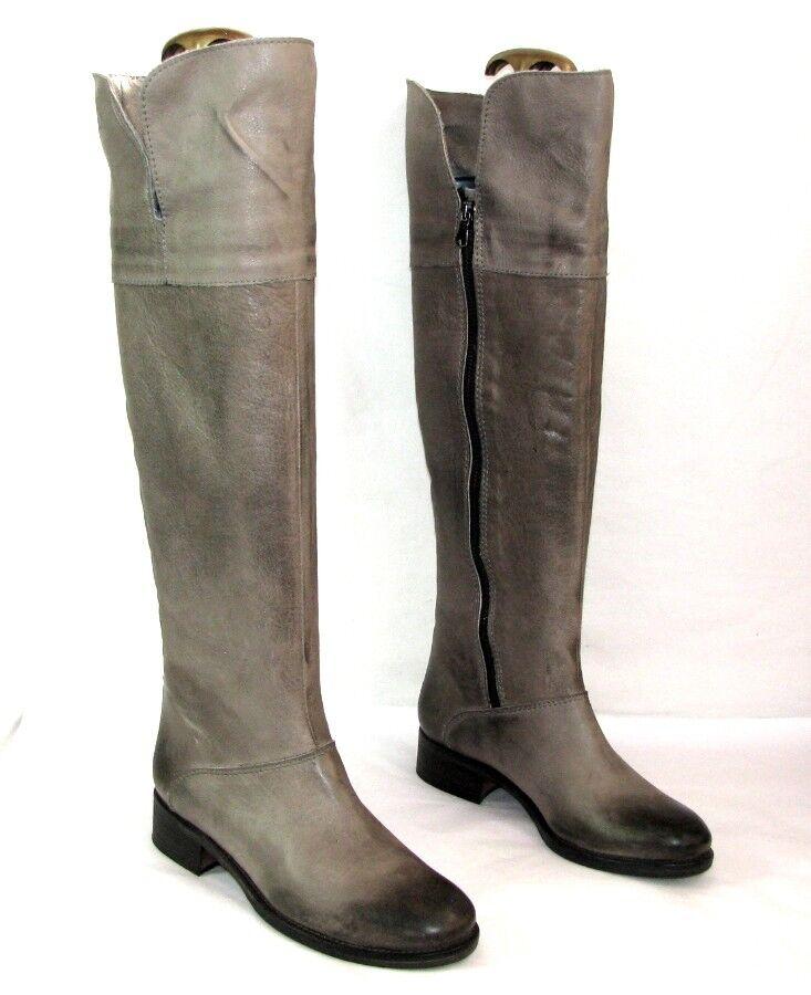BUSCANDO Botas rodilleras en piel gris EXCELENTE matizado 36 italiano EXCELENTE gris ESTADO a3714b