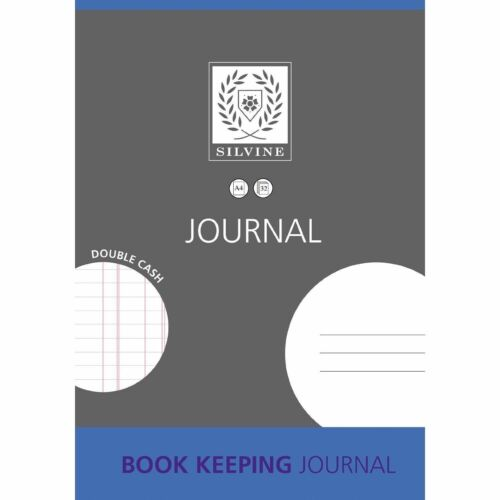A4 SILVINE BOOK KEEPING /& ACCOUNTS JOURNAL NOTEBOOK WITH DOUBLE CASH 32 PAGES