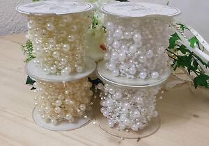 1m-Perlenband-Hochzeit-TischdekoTischband-Dekoband-Perlenkette-Tischdeko