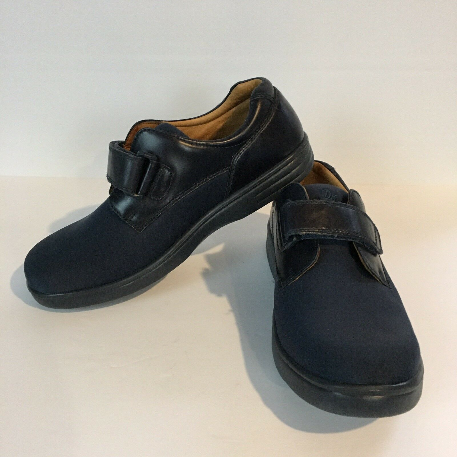 Dr. Comfort 4550 Annie 9.5W Orthopedtic Diabetic Loafers Damens Blau Leder Schuhe