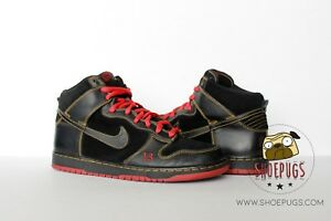 cheaper 2a0d0 043da Details about 2004 Nike Dunk SB High Unlucky sz 10.5 w/ Box black red  supreme | TRUSTED SELLER