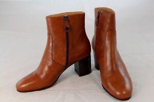 5f3bc3dedd335e WOW Marc O Polo Damen Stiefeletten Boots Leder cognac Blockabsatz Gr ...