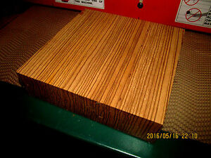 NICE-KILN-DRIED-ZEBRAWOOD-BOWL-PLATTER-BLANK-LATHE-TURNING-BLOCK-12-034-x-12-034-x-2-034