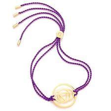 Daisy Jewellery NEW! Purple Cord Gold Plated Brow Chakra Adjustable Bracelet