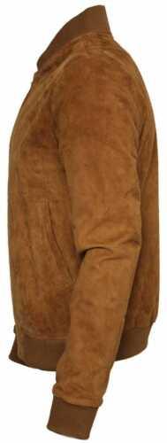 gli Uomini Marrone Stile Bomber in Pelle Scamosciata Cowboy Western Giacca Di Pelle