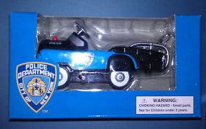 American-Hero-Die-Cast-1-10-Scale-NYPD-Police-Pedal-Tow-Truck-Boys-amp-Girls