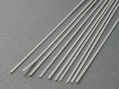 Grundpreis 1,18  €//m. weiß 10 Stk. gefräst 0,5 x 4,0 mm Polystyrol-Streifen