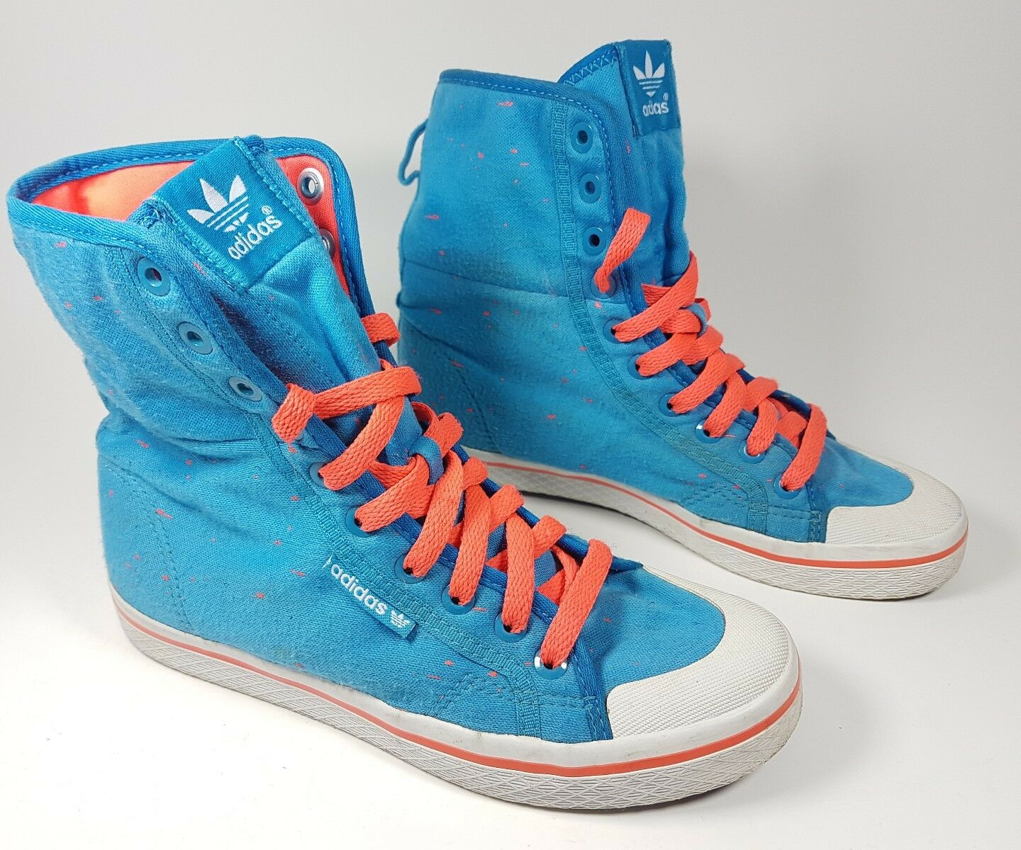 Adidas Bleu Hi Top Baskets UK 4 EU 36.5