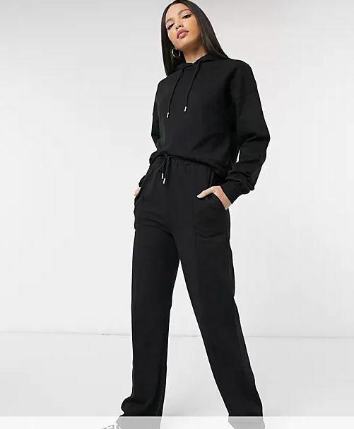 Asos Design Tall Damen Trainingsanzug Jogginganzug Pullover Hose schwarz Gr.44
