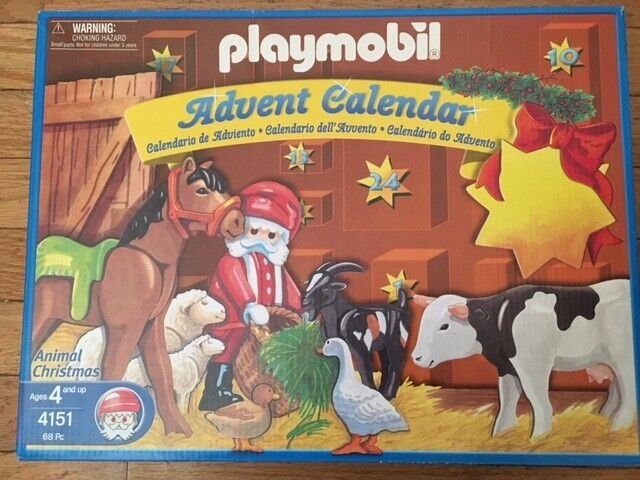 RARE 2004 Playmobil Advent Calendar tiere Christmas Set  4151 NEW SEALED BOX