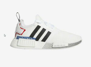 brand new 2c41e 6b471 Details about Adidas Originals NMD R1 EF2311 White Black Red Youth Boys  Grade School