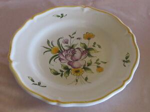 Assiette en faïence de l'Est décor Montauban bouquet rose rose HEHV0VW5-09162902-838208324