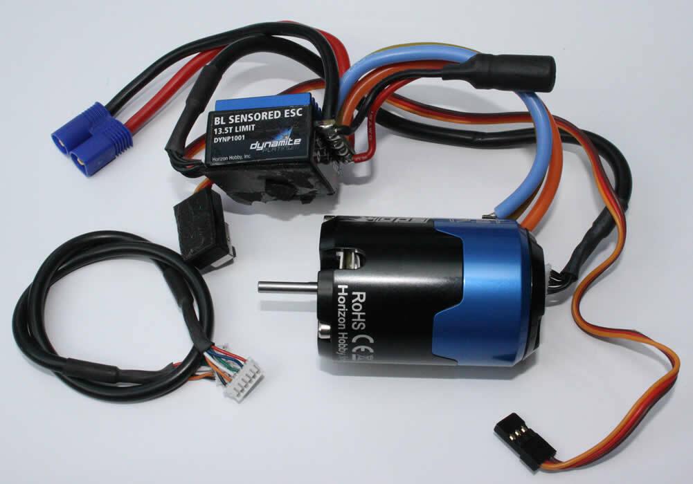 Antriebs sin escobillas Dynamite Conjunto Motor De Platino 17,5T + controlador Sensorik L2S ®
