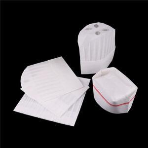 Disposable-Cook-Adjustable-Men-Kitchen-Baker-Chef-Fabric-Paper-Cap-Hat-Cater-iv