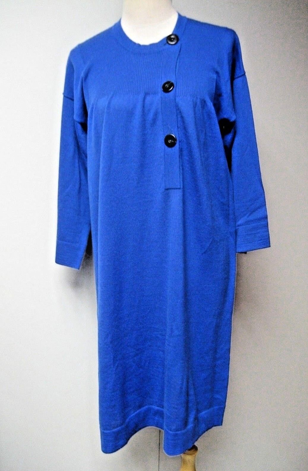 Cacharel Merino Wool sweater dress in bluee, size 2, relax fit,  New with defect