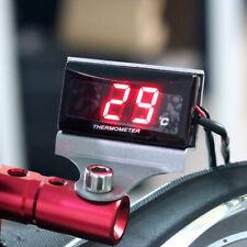 Led Red Digital Water Temp Gauge Temperature Car Motorcycle Meter With Sensor