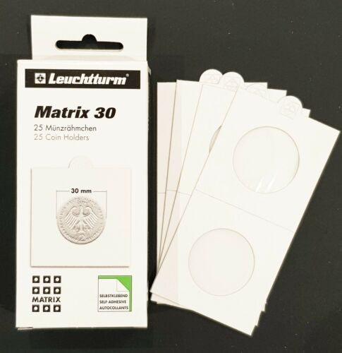 Lighthouse 2X2 Self-adhesive Coin Holder 30mm Fit Aust 20c /& Florin Pack of 25