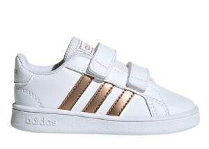 Adidas-GRAND-COURT-EF0116-Bianco-Dal-20-al-27-Scarpe-Bambina-Ginnastica