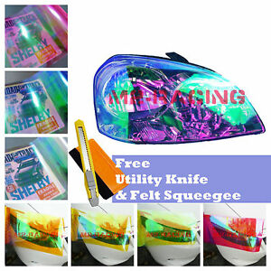 *Galaxy Chameleon Neo Chrome Color Headlight Taillight Fog Light Vinyl Tint Film