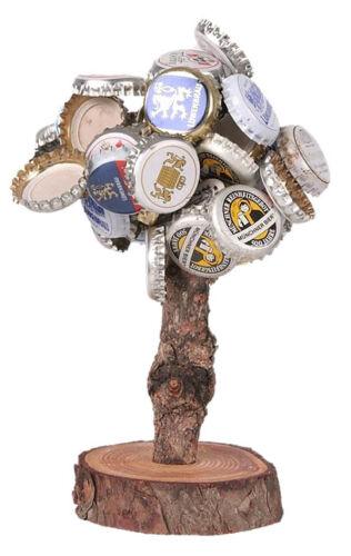 Männergeschenk, Trinkspiel, Bier Kronkorkenbaum Magnetbaum V2 Der Deckelbaum