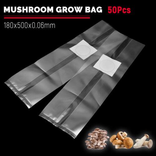 50-100PCS 4 Sizes PVC Mushroom Spawn Grow Bag Substrate High Temp Pre