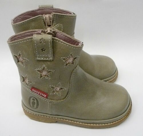 SALE sizes 22  23  £29.90 only Shoesme Taupe Leather /& Gold Star Boots