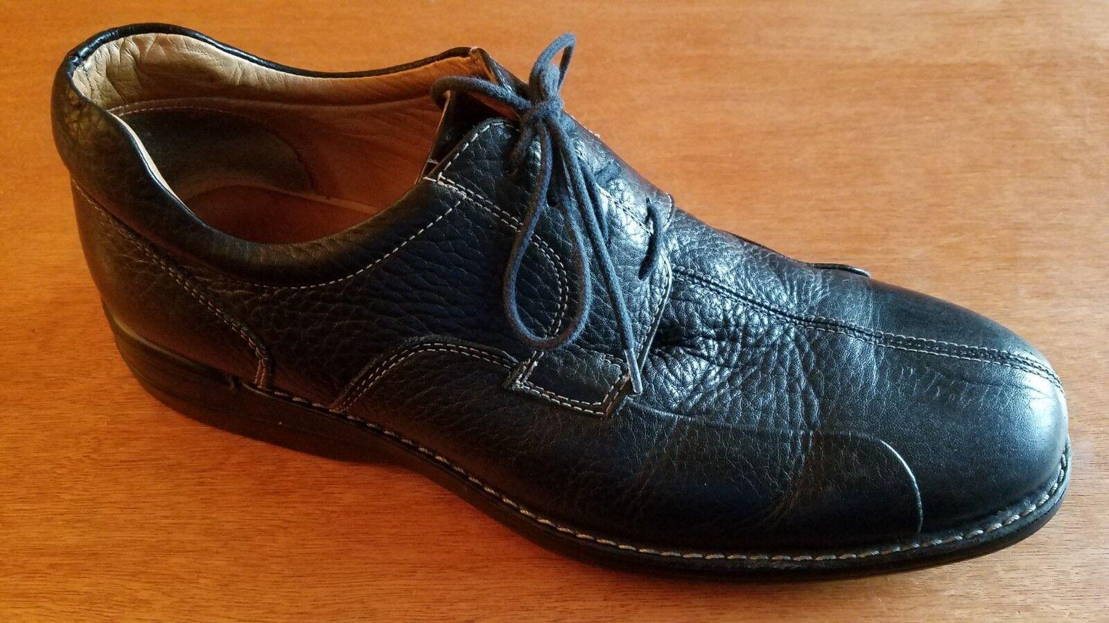 JOHNSTON & MURPHY Mens Size  Black Sheepskin Leather Lace Up Oxford shoes  10.5M
