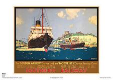 DOVER KENT HOLIDAY RETRO ART VINTAGE RAILWAY TRAVEL POSTER ADVERTISING PRINT