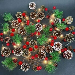 9ft 2.7M Wedding Decorated Light up Garland Christmas Decor Fireplace Tree DIYUK