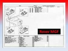 MGF Parts Microfiche - Rover VVC MG F Roadster -- Parts CD