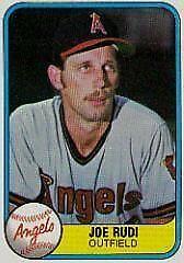 1981 Fleer Joe Rudi #272 Baseball Card