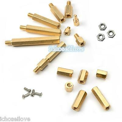 M3 Male 6mm x M3 Female Hex Brass Spacer Standoff & Screw Nut Nickel-plated New