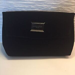 7207bbc6b9 Image is loading Giorgio-Armani-Black-Velvet-Clutch-or-Travel-Case